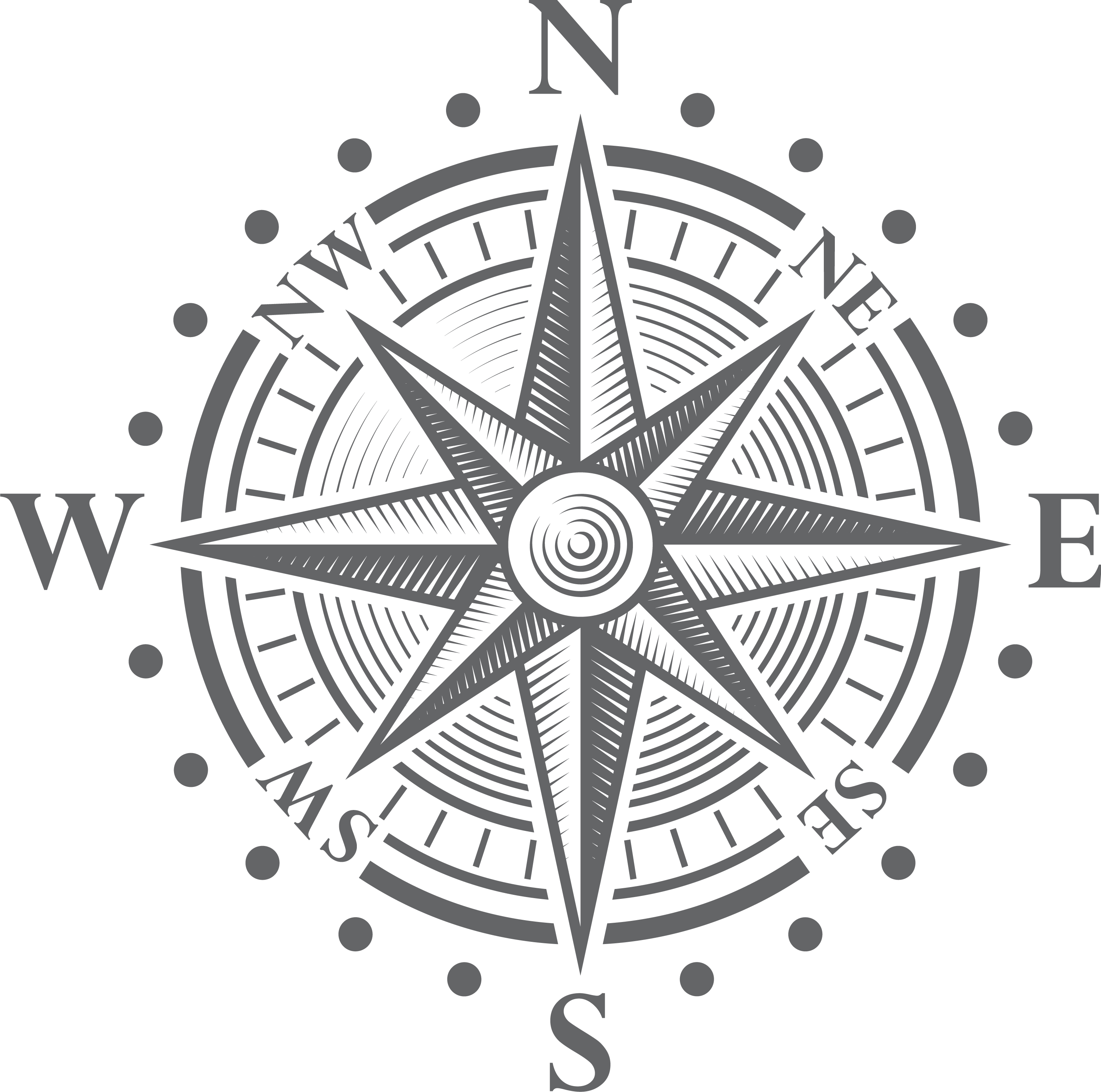 Image of a compass rose.
